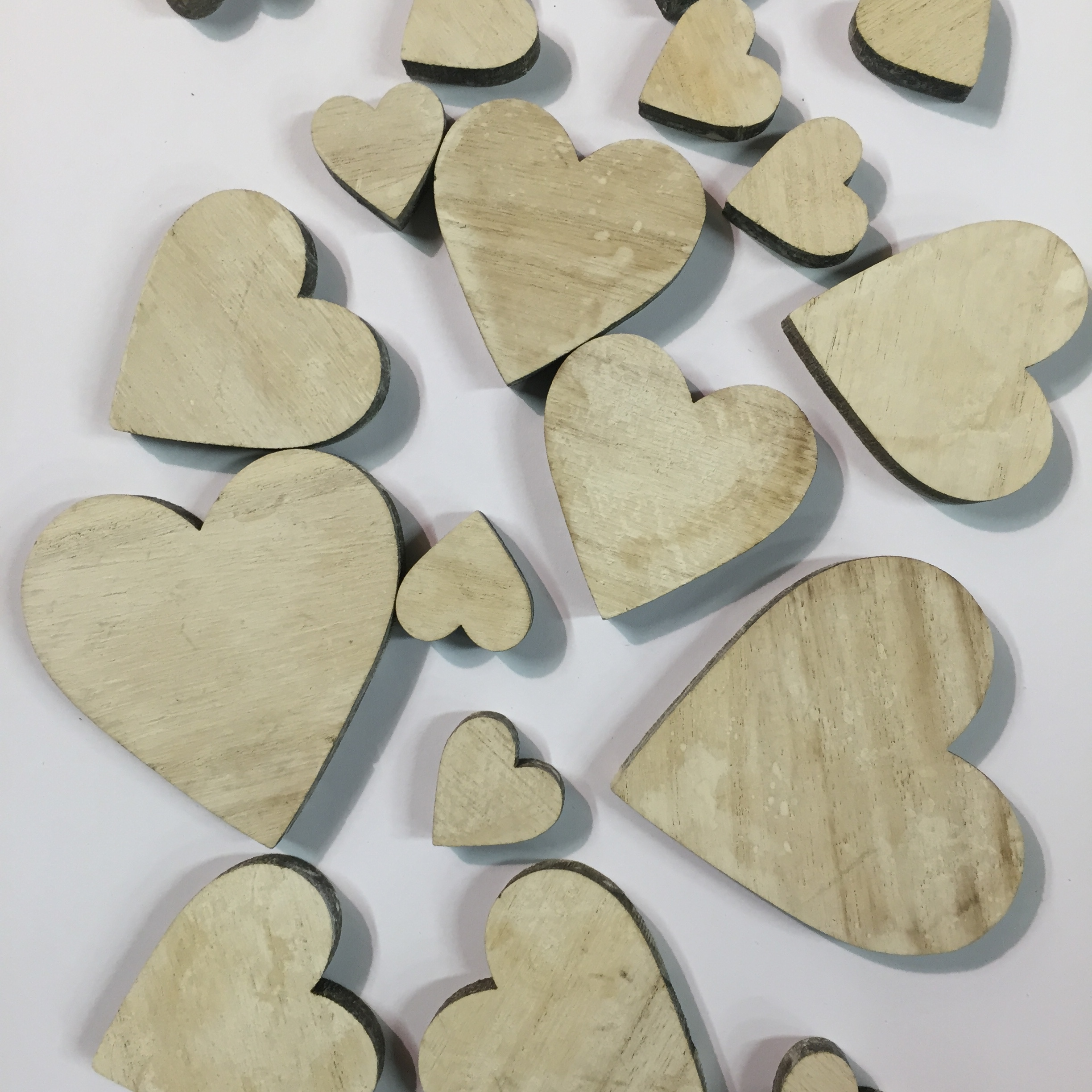 Heart wooden scatters