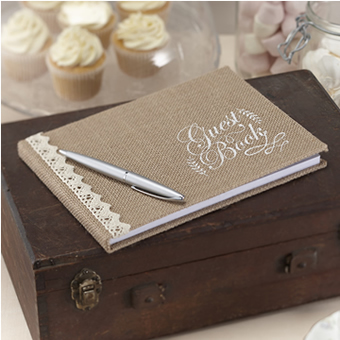 guest book hessian