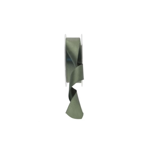 25mm Dark Green satin ribbon