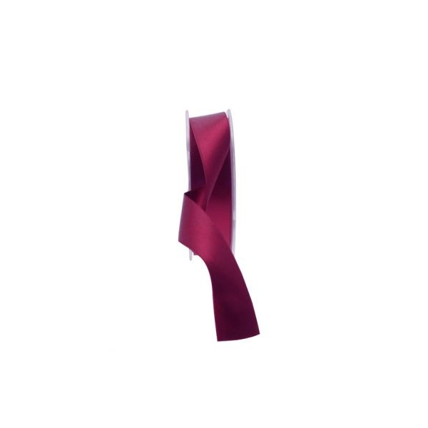 25mm burgundy satin ribbon