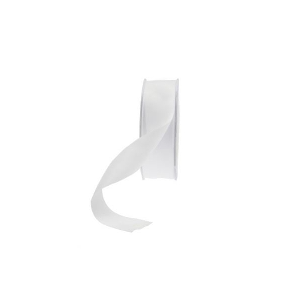 25mm white satin ribbon