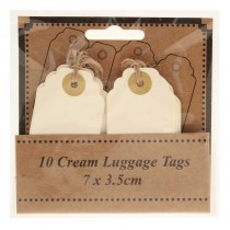 Luggage tags cream