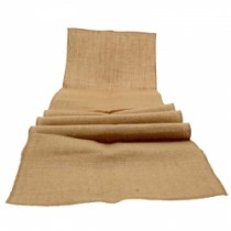 hessian table runner WED222