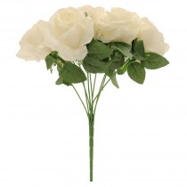 cream rose bunch SF0350C