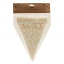 Cream laser cut bunting WED226