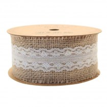Jute with Cream Lace Ribbon RI7317